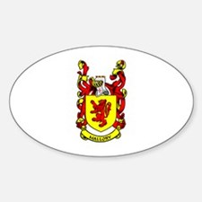MALLORY Coat of Arms Oval Decal