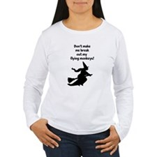 flying monkeys witch Long Sleeve T-Shirt