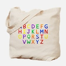 Colorful Alphabets Tote Bag