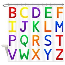 Colorful Alphabets Shower Curtain