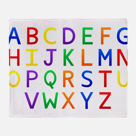 Colorful Alphabets Throw Blanket