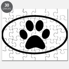 Paw Print Euro Oval Puzzle