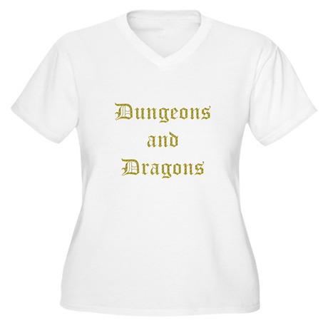 D & D Logo Women's Plus Size V-Neck T-Shirt