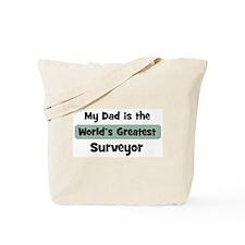 Worlds Greatest Surveyor Tote Bag