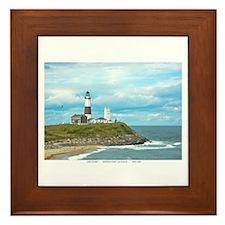 Long Island. Montauk Point Light. Framed Tile