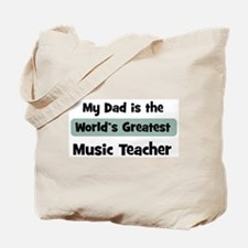 Worlds Greatest Music Teacher Tote Bag