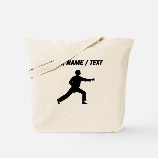 Custom Karate Punch Silhouette Tote Bag
