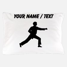 Custom Karate Punch Silhouette Pillow Case