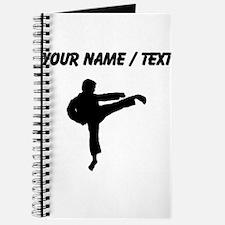 Custom Karate Kick Silhouette Journal