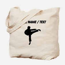 Custom Karate Kick Silhouette Tote Bag