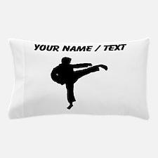 Custom Karate Kick Silhouette Pillow Case