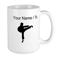 Custom Karate Kick Silhouette Mugs
