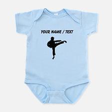 Custom Karate Kick Silhouette Body Suit