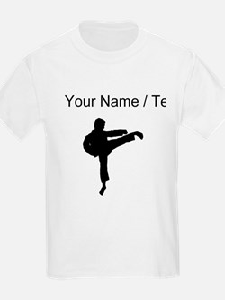Custom Karate Kick Silhouette T-Shirt