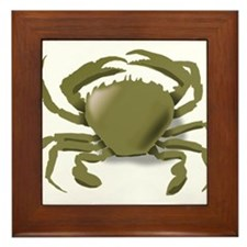 Green Crab Framed Tile