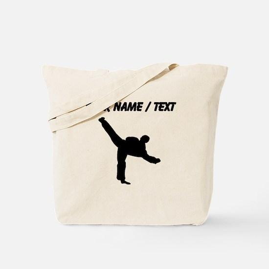 Custom Karate Kick Silhouette Tote Bag