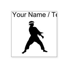 Custom Karate Silhouette Sticker