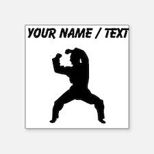 Custom Martial Artist Silhouette Sticker