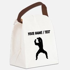 Custom Martial Artist Silhouette Canvas Lunch Bag