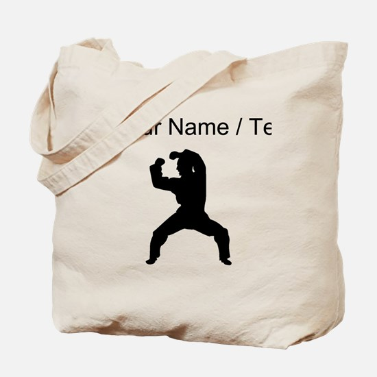 Custom Martial Artist Silhouette Tote Bag