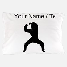 Custom Martial Artist Silhouette Pillow Case