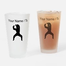 Custom Martial Artist Silhouette Drinking Glass