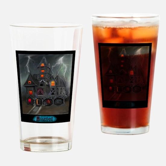 HAUNTED.JPEG Drinking Glass