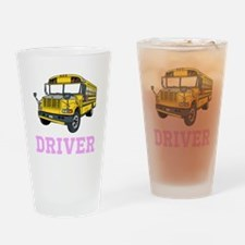 School Bus Driver Drinking Glass