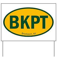 Euro Oval Sticker - SUNY BKPT Yard Sign