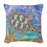 Sea turtle Woven Pillows