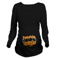 Pumkin Smuggler Dark Long Sleeve Maternity T-Shirt