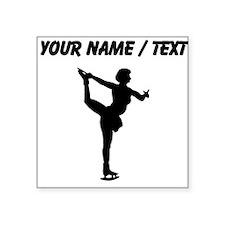 Custom Figure Skate Silhouette Sticker