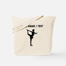 Custom Figure Skate Silhouette Tote Bag