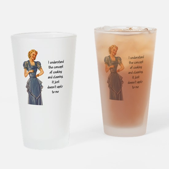COOKING AND CLEANING Drinking Glass