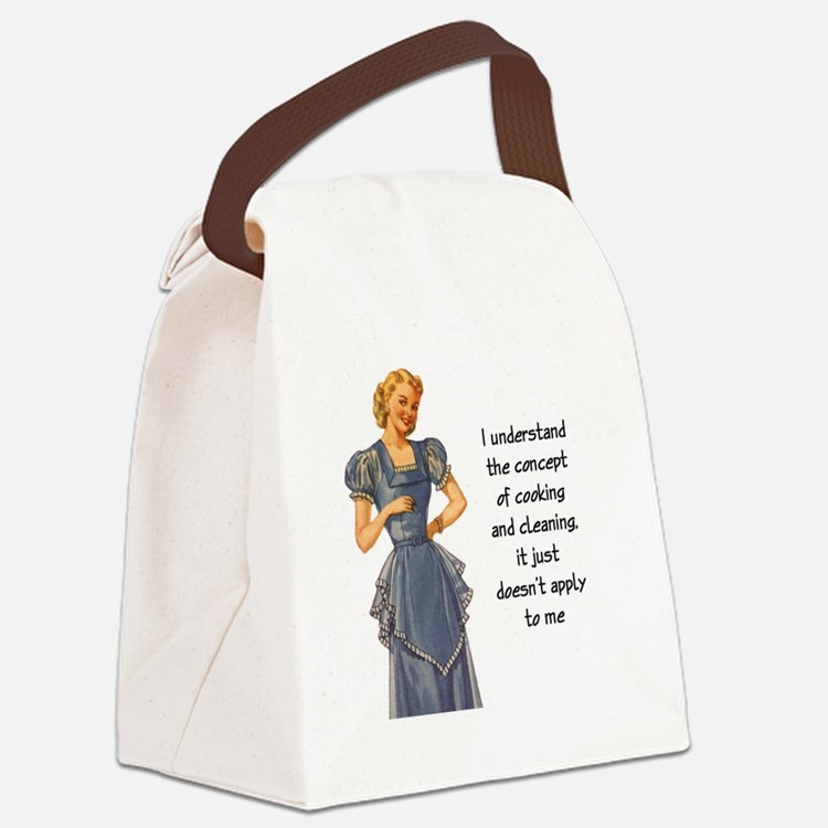 COOKING AND CLEANING Canvas Lunch Bag