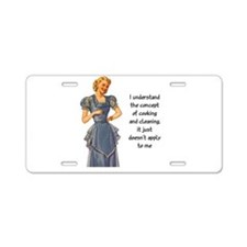 COOKING AND CLEANING Aluminum License Plate