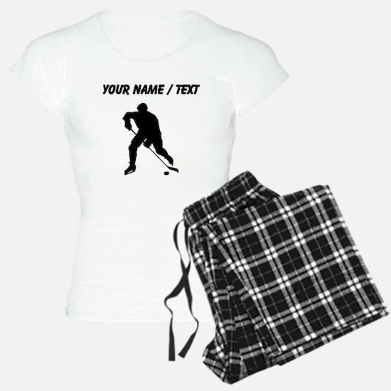 Custom Hockey Player Silhouette Pajamas