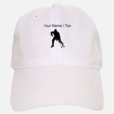 Custom Hockey Player Silhouette Baseball Cap