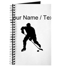 Custom Hockey Player Silhouette Journal