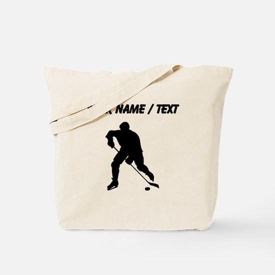 Custom Hockey Player Silhouette Tote Bag