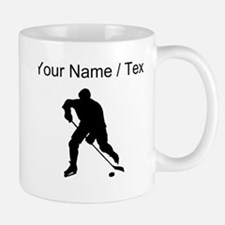 Custom Hockey Player Silhouette Mugs