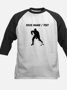 Custom Hockey Player Silhouette Baseball Jersey