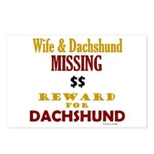 Wife & Dachshund Missing Postcards (Package of 8)