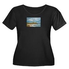Long Isl Women's Scoop Neck Dark Plus Size T-Shirt