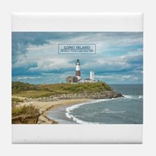 Long Island. Montauk Point Light. Tile Coaster