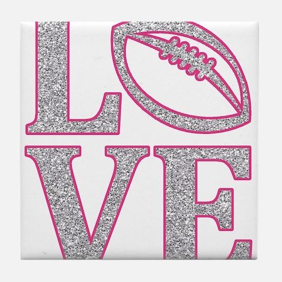 Football Love Tile Coaster