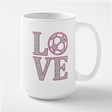 SOCCER LOVE Large Mug