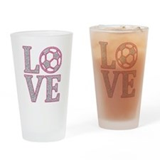 SOCCER LOVE Drinking Glass