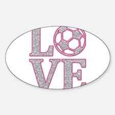 SOCCER LOVE Sticker (Oval)