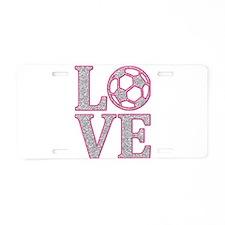 SOCCER LOVE Aluminum License Plate